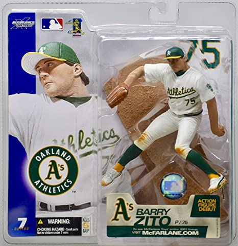 wholesale dealer 0e211 c191e Amazon.com: 2003 Barry Zito McFarlane Figure Series 7 ...