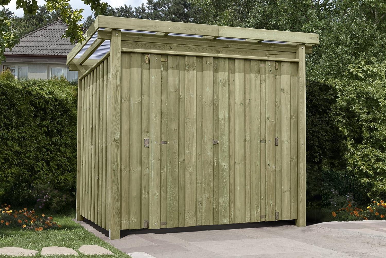 Gartenpirat Gerätehaus Holz mit Flachdach Typ-1 Gartenhaus 254 x 206 ...