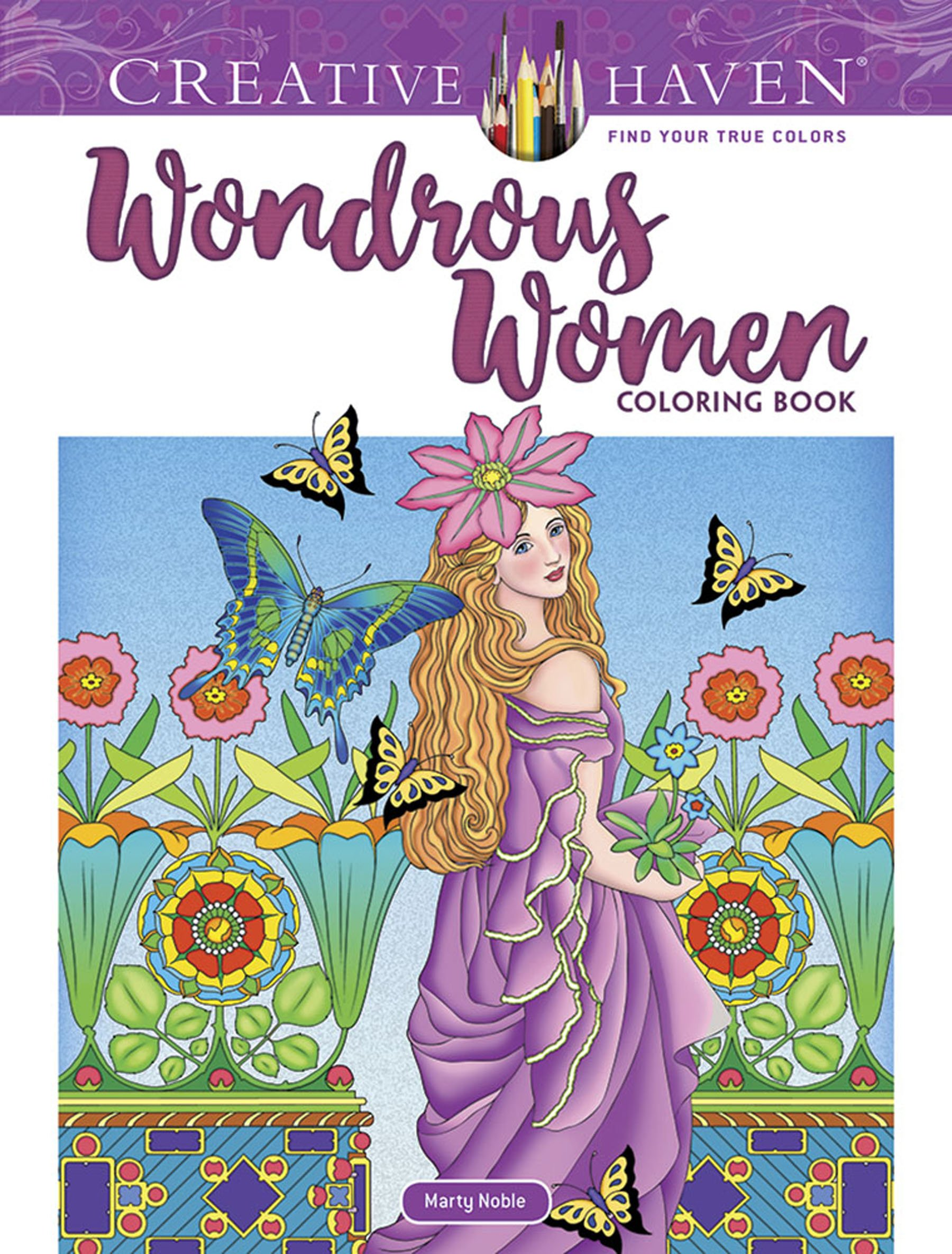 Amazon.com: Creative Haven Wondrous Women Coloring Book (Adult Coloring)  (9780486828466): Marty Noble: Books