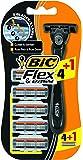 Bic Flex and Easy - Cuchilla de afeitar para hombre (incluye 5 recambios)