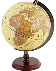 Exerz Dia 25 CM Antique Globe With A Wood Base