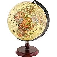 Exerz Antique Globe with A Wood Base - Dia 25cm World Globe Rotating