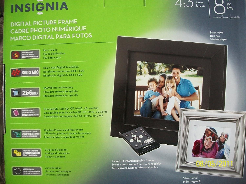 Amazon.com: Insignia NS-DPF8WW-09 - Digital photo frame ...