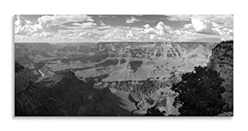 Grand Canyon Paysage panoramique Noir et blanc Impression ...