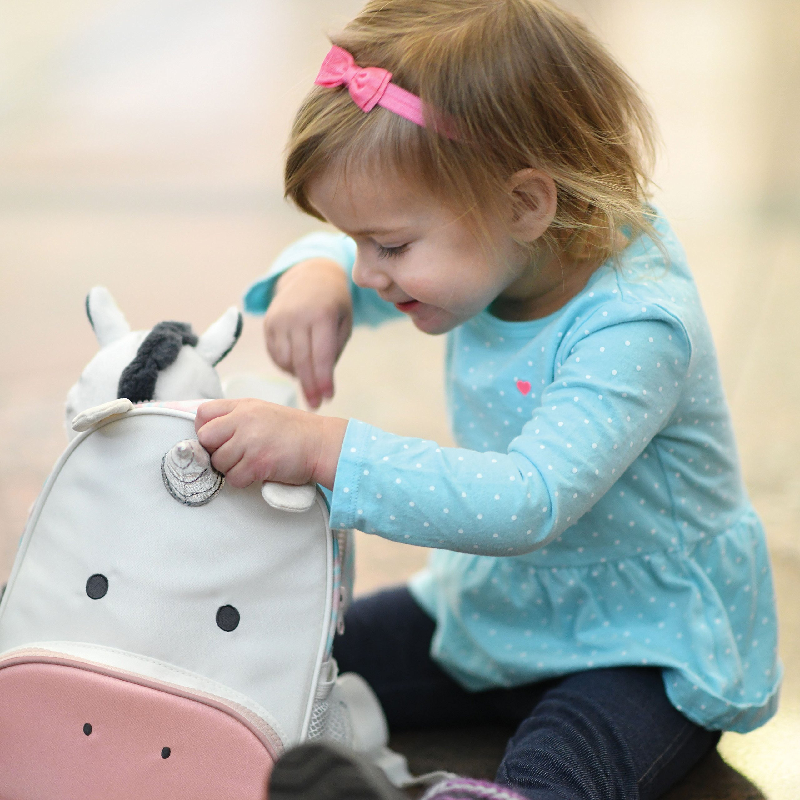 Travel Bug Toddler Safety Unicorn Backpack Harness with Removable Tether, Pink/White by Travel Bug (Image #6)
