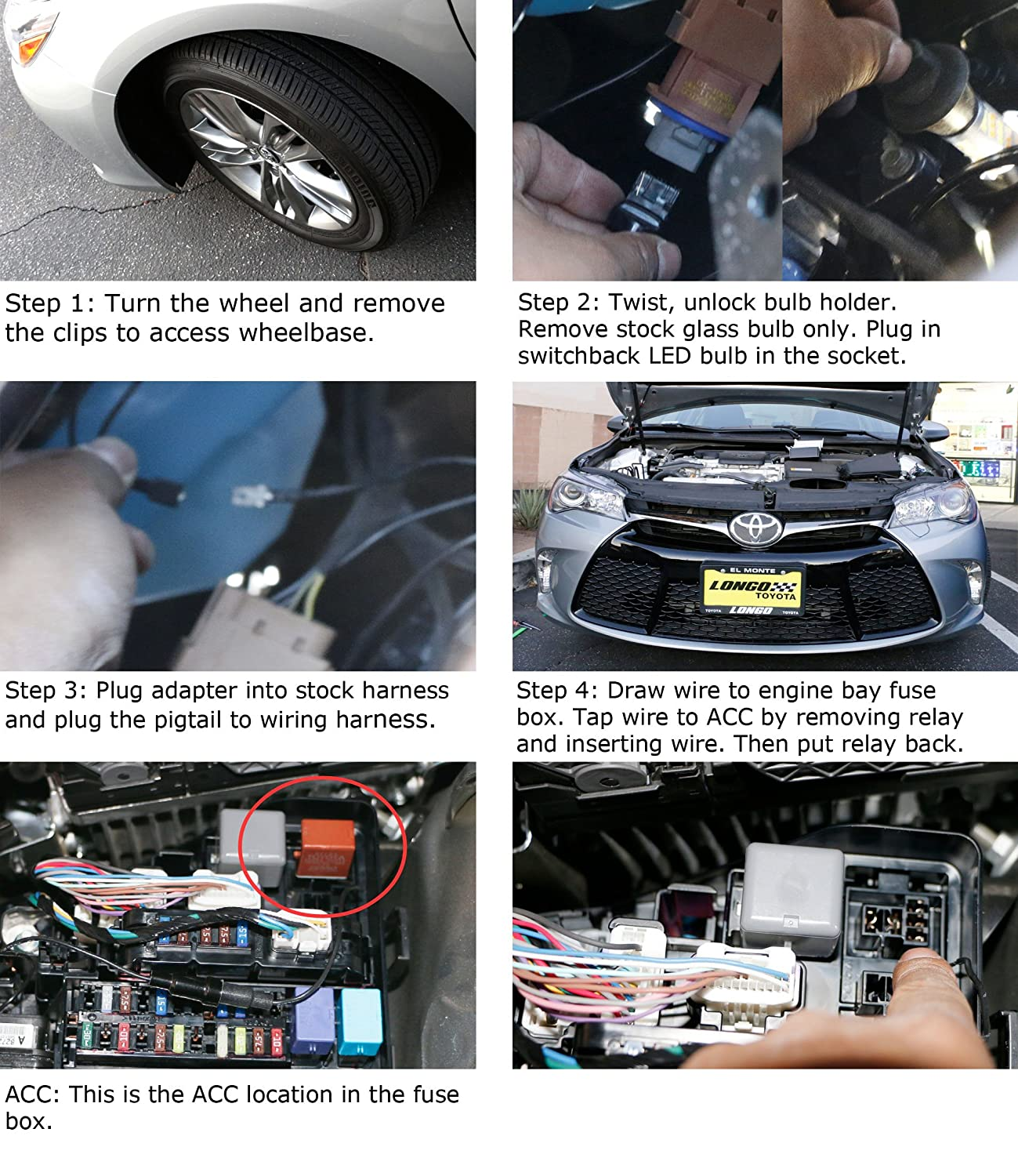 How To Remove 2015 Camry Under Dash Fuse Box Cover 50 Wiring Highlander 91qav0f2l Sl1500 Amazon Com Ijdmtoy 2 High Power 42 Smd Led