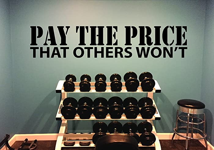 Amazon.com: Gym Ideas, Gym Wall Decor, PAY THE PRICE THAT OTHERS WON ...