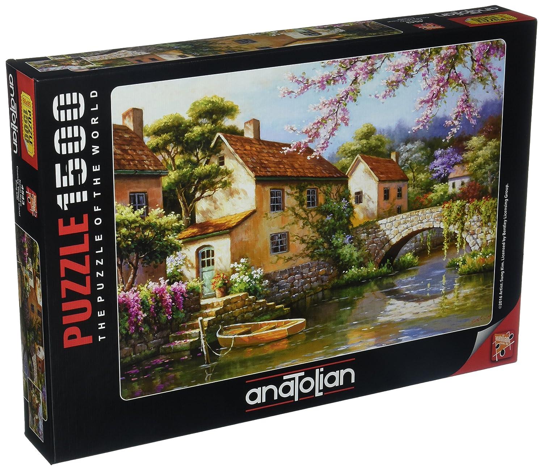 Anatolian 1500Piece Jigsaw Puzzle Country Village Canal Jigsaw Puzzle ANA4543