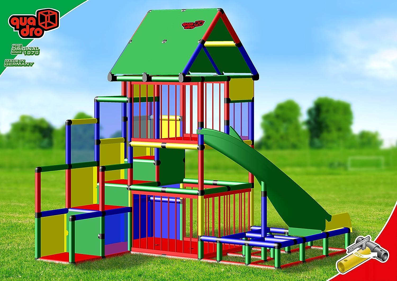 Quadro Klettergerüst Anleitung : Quadro baby playcenter mit bogenrutsche klettergerüst kletterturm