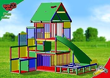 Quadro Klettergerüst Xxl : Quadro baby playcenter mit bogenrutsche klettergerüst kletterturm
