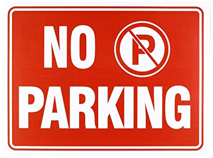 Amazoncom No Parking Sign 9 X 12 Inch 4 Pack Office Products