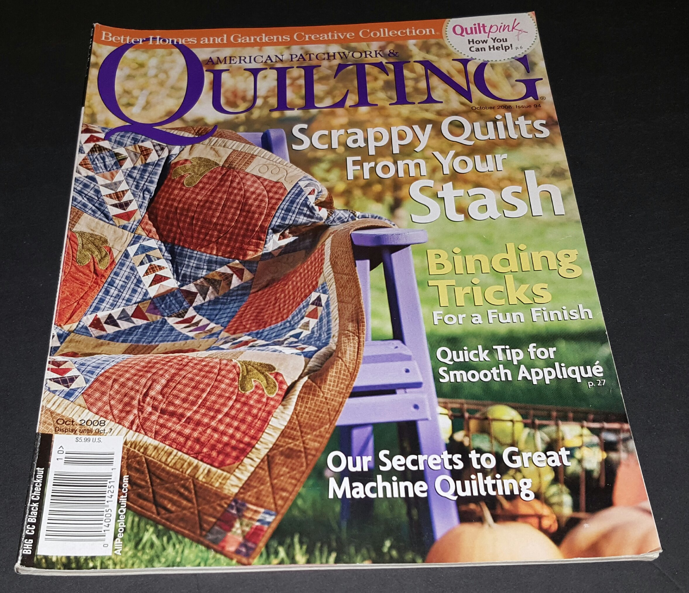 patchwork patch pin four scrappy quilting quilt american used and all from scraps