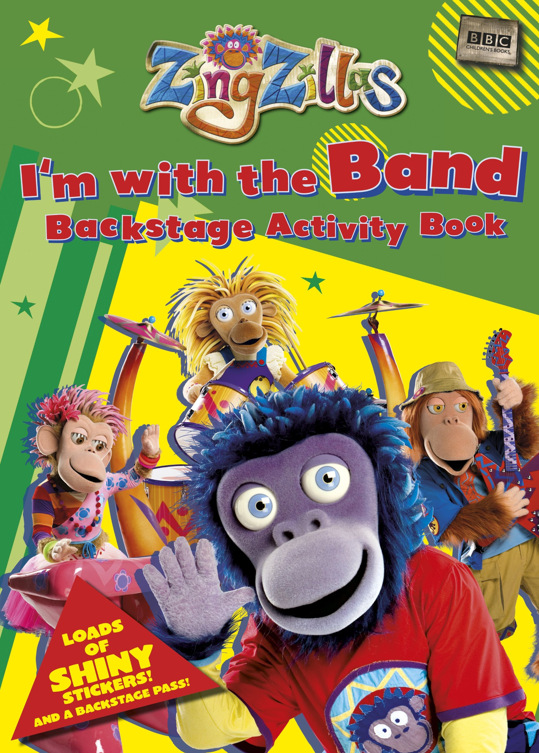 Zing Zillas: I'm with the Band Backstage Pass Sticker Activity Book PDF