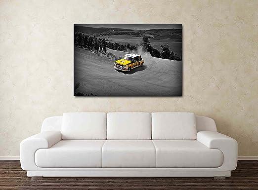 Renault 5 GT Turbo Rally - 30 x 50,8 cm cuadro de la impresión de la lona: Amazon.es: Hogar