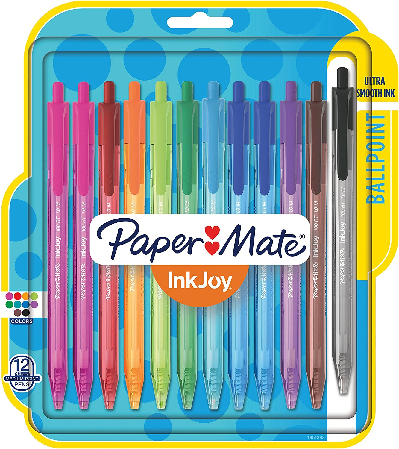 2 X Papermate InkJoy Ballpoint  1.0mm Medium Stylo 4 in a Pack