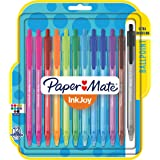 Paper Mate InkJoy 100RT Retractable Ballpoint Pens, Medium Point, Assorted, 12 Pack (1951393)