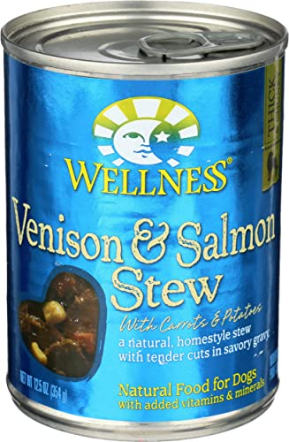 Wellness, Dog Food Can Venison Salmon Stew, 12.5 Ounce