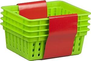 Home Basics PB40231-GRN Basket, Small, Green, 4-Pack