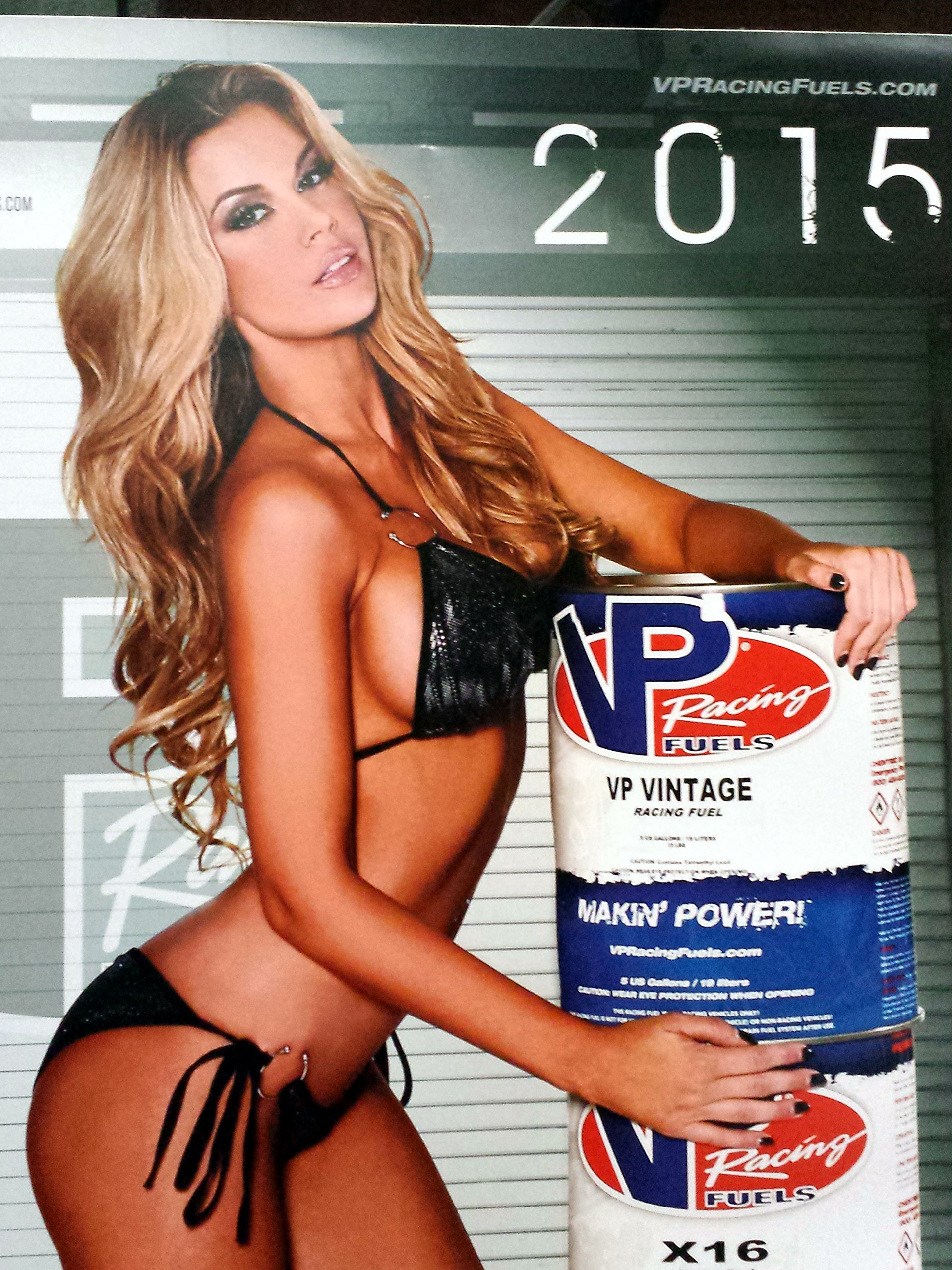VP Racing Fuels Fuel 2015 18x24 Inch Pin-Up Poster for Your Shop Store Drag Race Track Trailer for Auto Bike Mechanic Calendar Poster Hot Pinup Bikini Pic