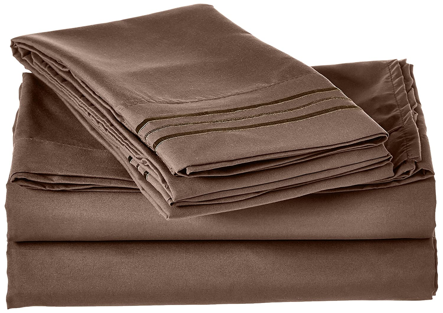 4-Piece Sheet Set, Full, Taupe
