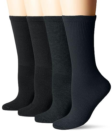 c054b4ca6e8 Dr. Scholl s Women s Guaranteed Comfort Diabetic and Circulatory crew 4 Pack  Socks