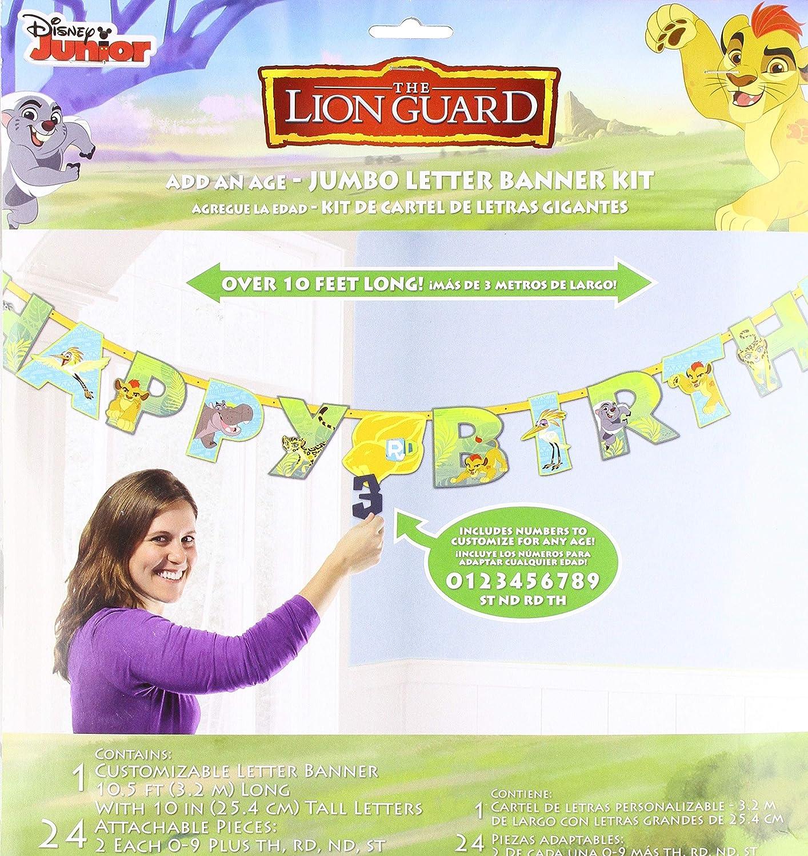 Amazon.com: Lion Guardia Kit de cumpleaños Banner ...