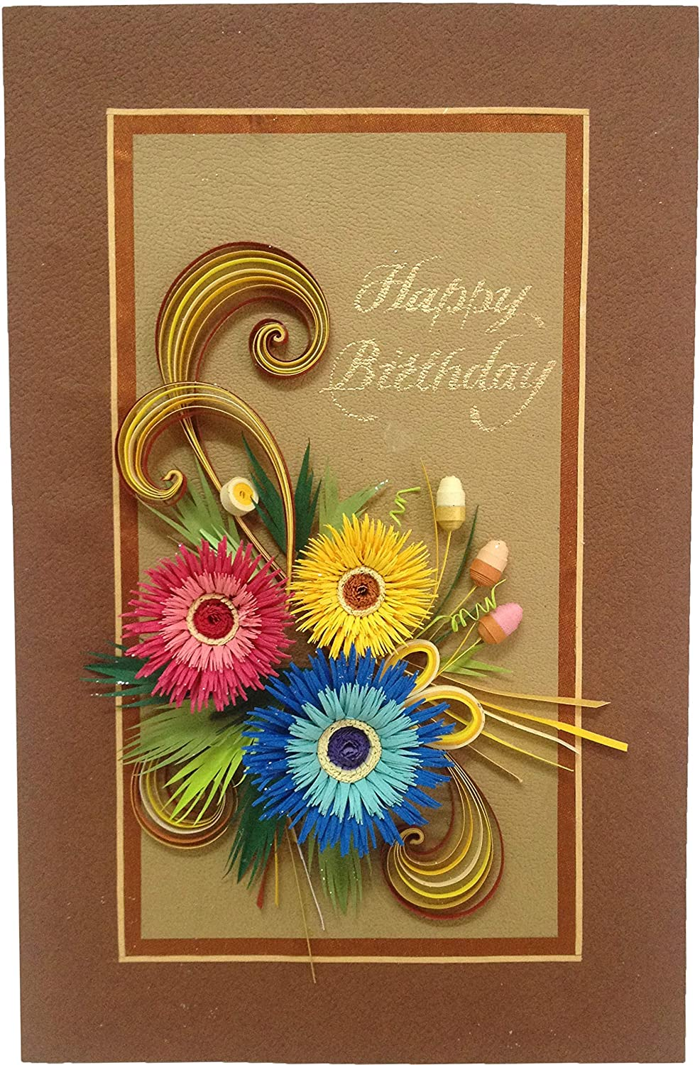 Phenomenal Swapnil Arts Handmade 3D Paper Quilling Happy Birthday Greeting Personalised Birthday Cards Cominlily Jamesorg