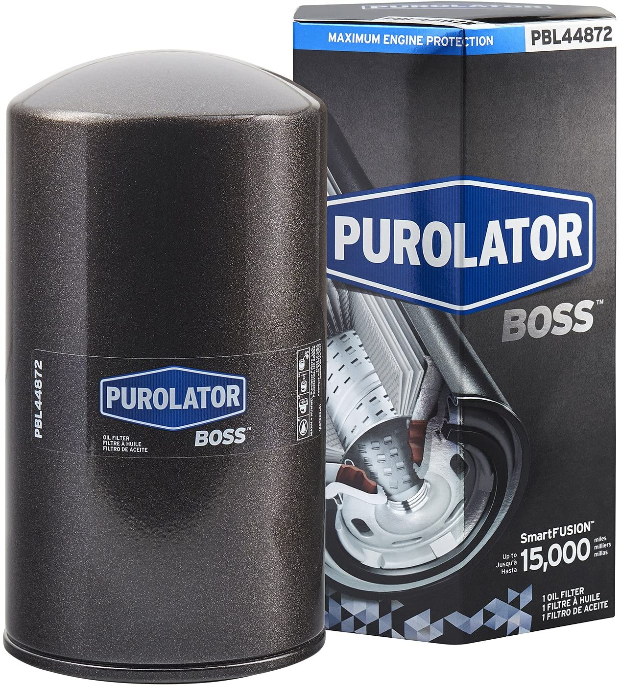 Purolator PBL44872 Black Single PurolatorBOSS Maximum Engine Protection Spin On Oil Filter
