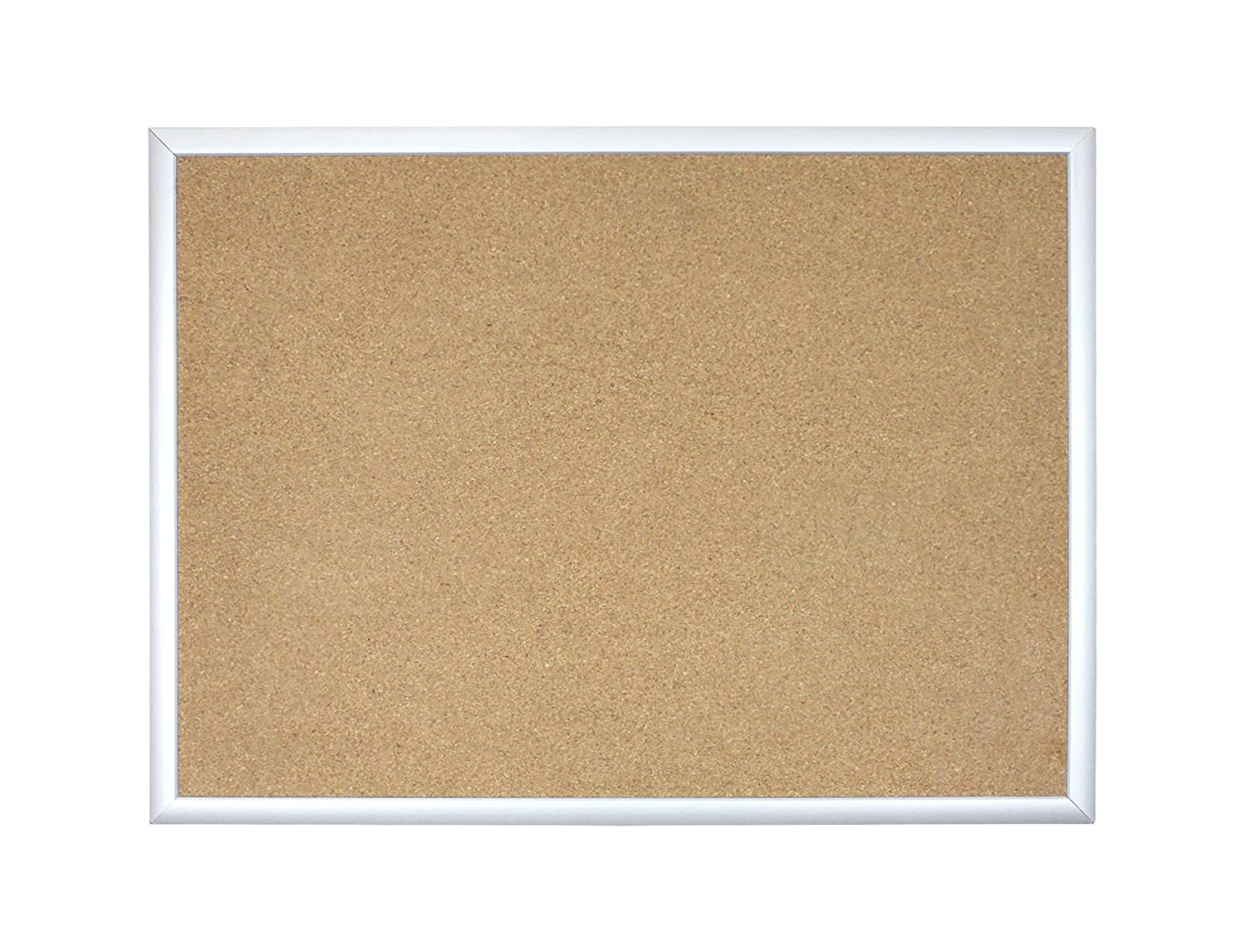 U Brands Basics Cork Bulletin Board, 23 x 17 Inches, Silver Aluminum Frame