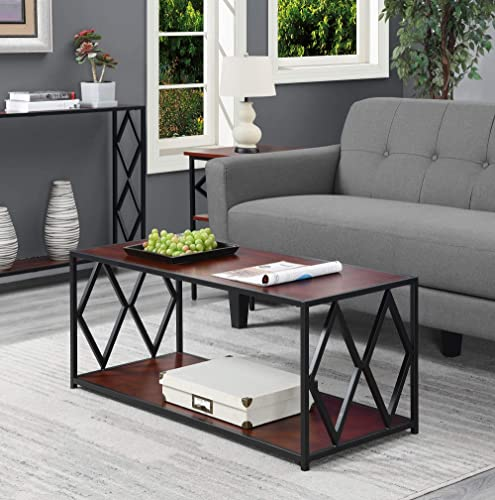 Convenience Concepts Diamond Metal Coffee Table