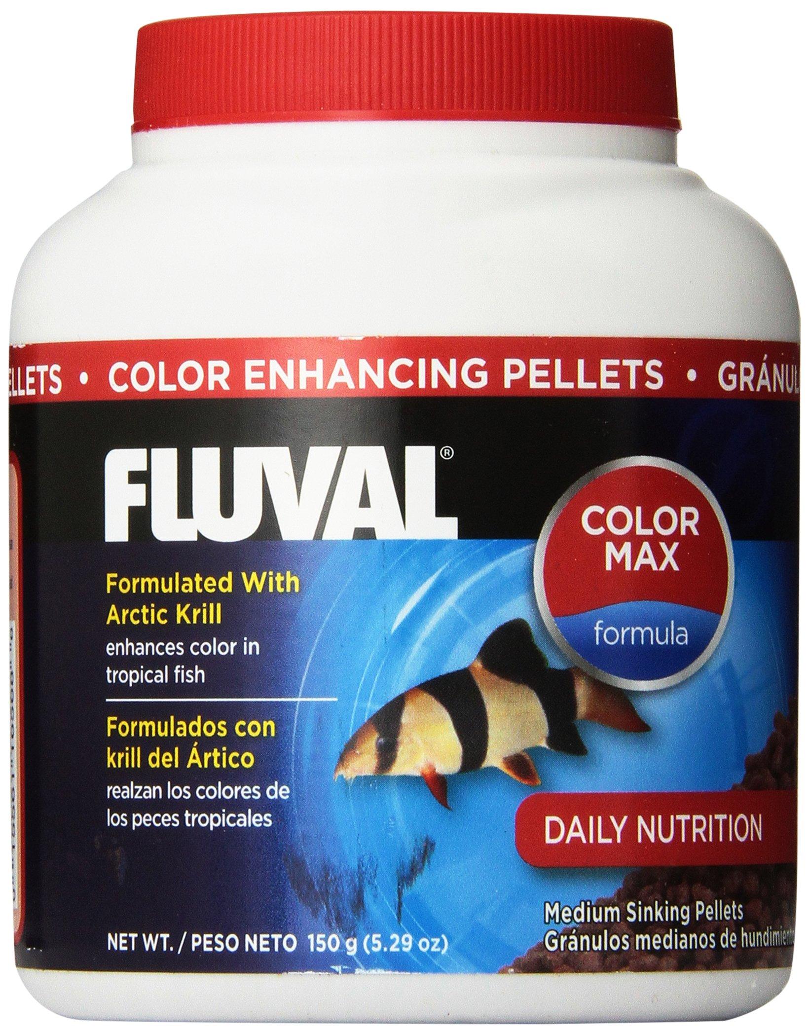 150gm Fluval Color Enhancing Pellets Fish Food, 5.29-Ounce ...