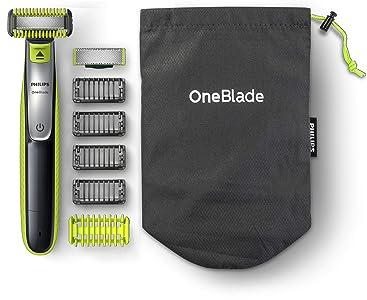 Philips OneBlade Cara y Cuerpo QP2630/30 - Recortador de Barba Recargable con Peine-Guía para el Cuerpo, 4 Peines-Guía para Barba de 1, 2, 3 y 5 mm, Uso en Seco y Húmedo