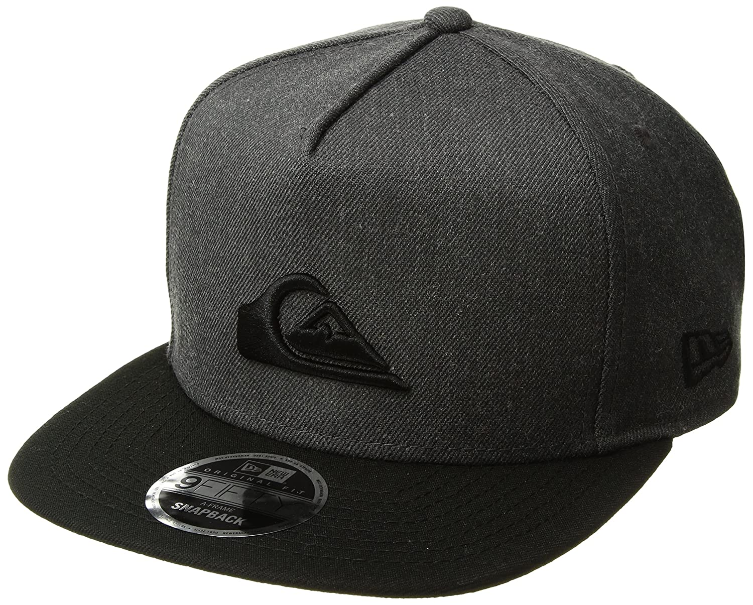eec59d9e975698 Amazon.com: Quiksilver Men's Stuckles Snap Trucker Hat, Charcoal Heather  One Size: Clothing