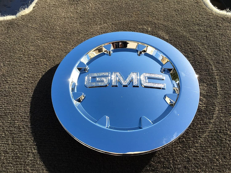 エキゾチックストアブランド新しい1ピース2007 – 2014 GMCシエラ1500 DenaliユーコンXLクロームホイールハブキャップ9596381 B01MV2TAY7