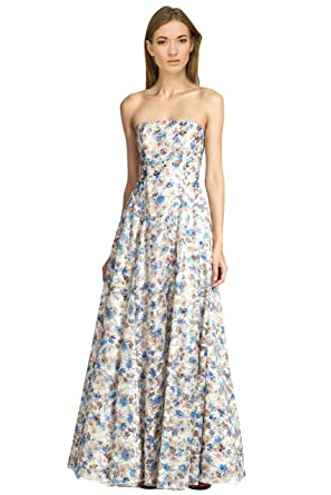 alice + olivia Dreema Strapless Floral Embroidered Lace Ball Gown ...