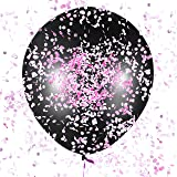 """Sepco 36"""" Gender Reveal Balloon Tricked Pack for Baby Shower with Pink, Blue and Multicolored Confetti"""