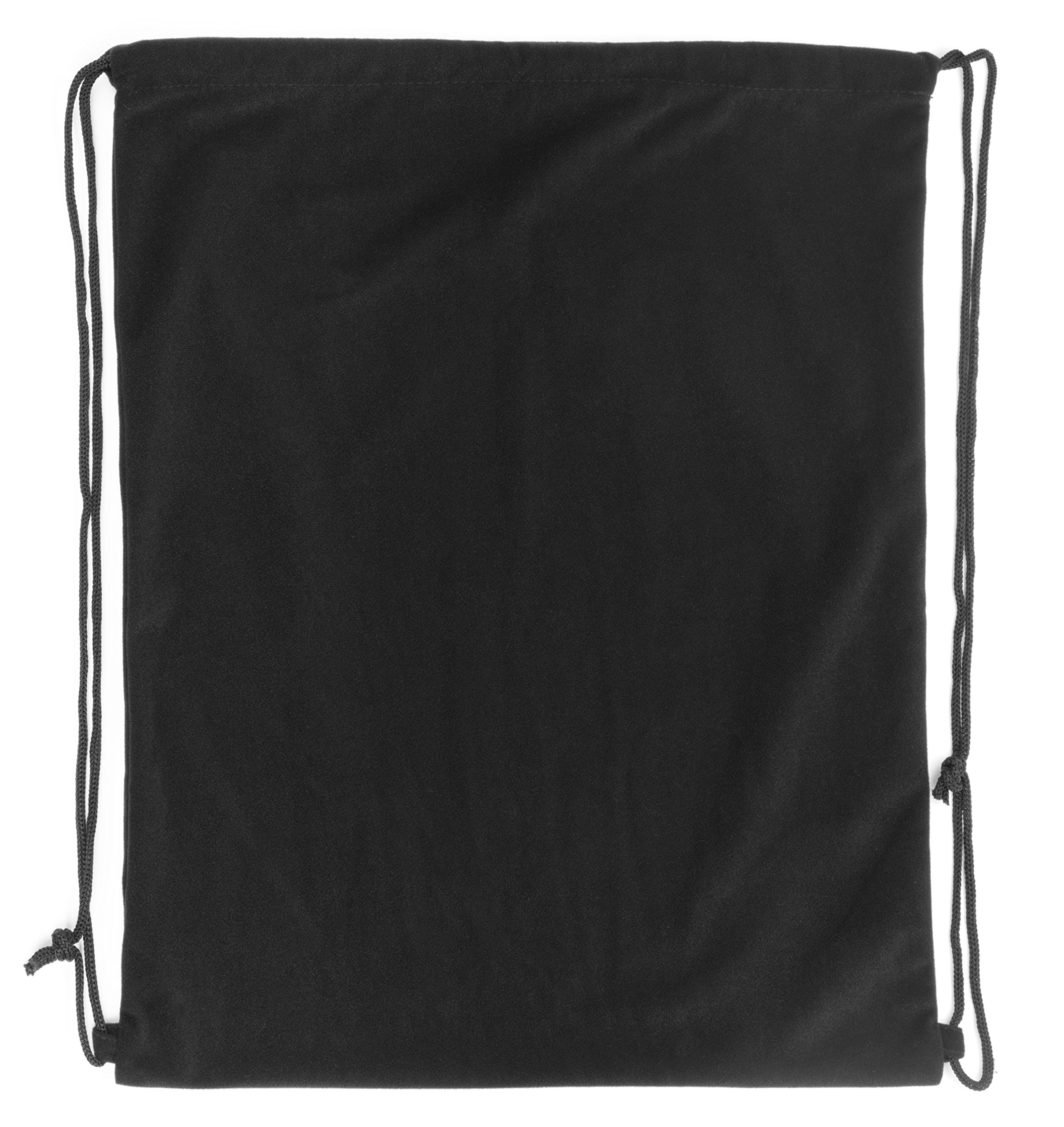"Pardao Velvet Luxury Gift Bag - 17 x 20"" - Large Black Drawstring Backpack - Cloth Swag Bag"