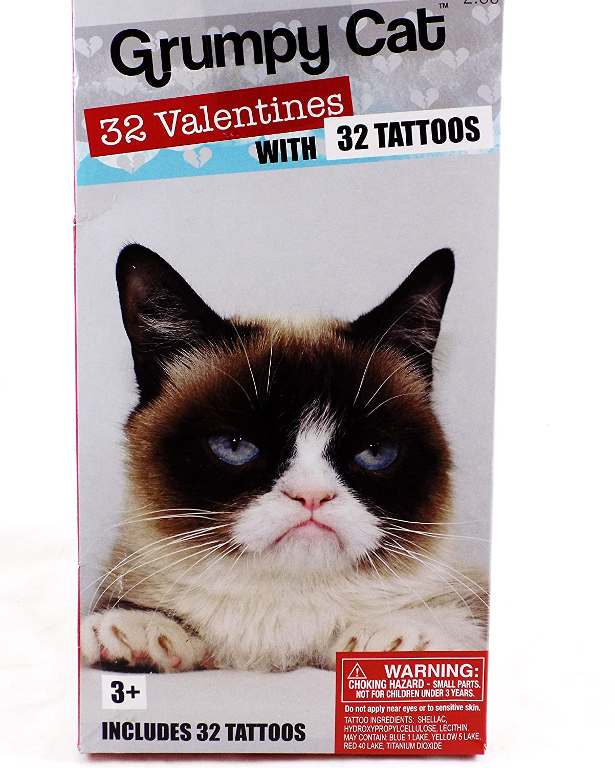 Amazon 32 Grumpy Cat Valentine Classroom Sharing Cards with – Animal Valentine Cards