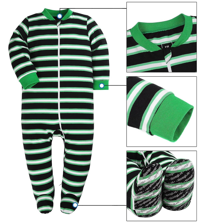 Both Meet Yuan Baby Cotton Cartoon Pajamas Baby Girls and Boys Long Sleeve Romper