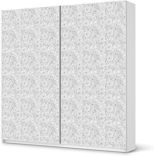 Pantalla IKEA Pax Armario 236 cm altura – Puerta corredera/Diseño Pegatinas Splash 2/Decoración Element: Amazon.es: Hogar