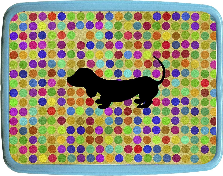 Dachshund on Dots Girls Blue Preschool Toddler Childrens Backpack /& Lunch Box Set