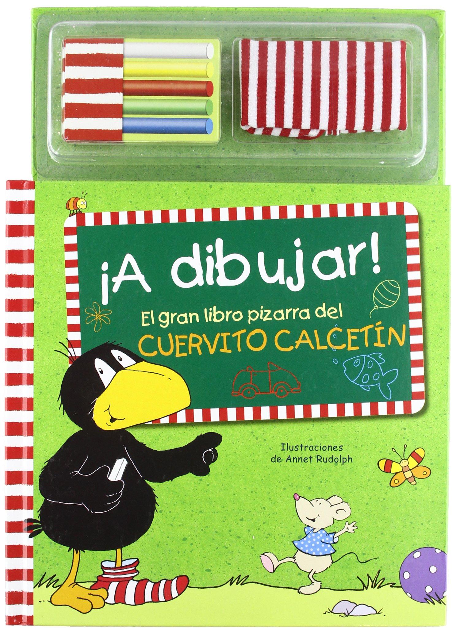 A dibujar!: el gran libro pizarra del cuervito Calcetín ...
