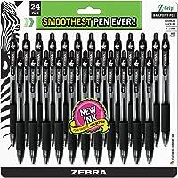 24-Pack Zebra 1.0mm Black Ink Z-Grip Retractable Ballpoint Pen