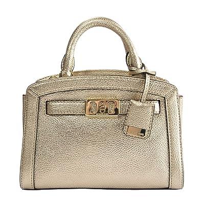 13a781bc5e05 Amazon.com: Michael Kors Gold Leather Karson XS Extra Small Lock Front Satchel  Crossbody: Shoes