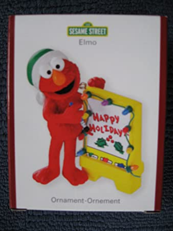 Amazon.com: Sesame Street Heirloom Elmo Christmas Ornament: Home ...