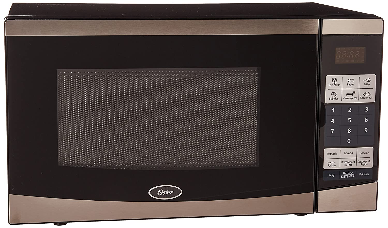 Oster 0.7 Cu. Ft. Compact Microwave - Stainless-steel/black Ogyu701 OGYU702