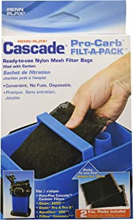 Penn Plax Pro-Carb Filter Bags for All Canister Filters – Filled with Activated Carbon
