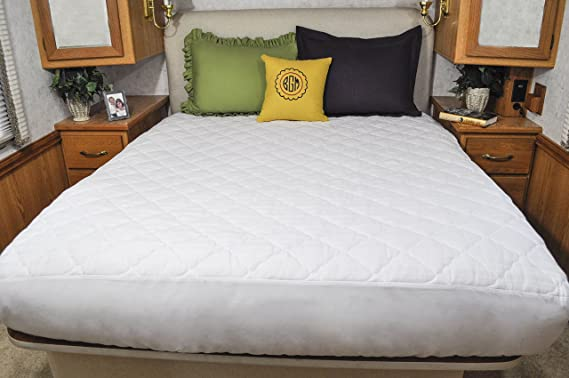 Amazon.com: AB Lifestyles Short Queen Mattress Pad USA MADE Mattress Cover  For Camper, RV, Travel Trailer Mattresses Size:60x75: Sports U0026 Outdoors