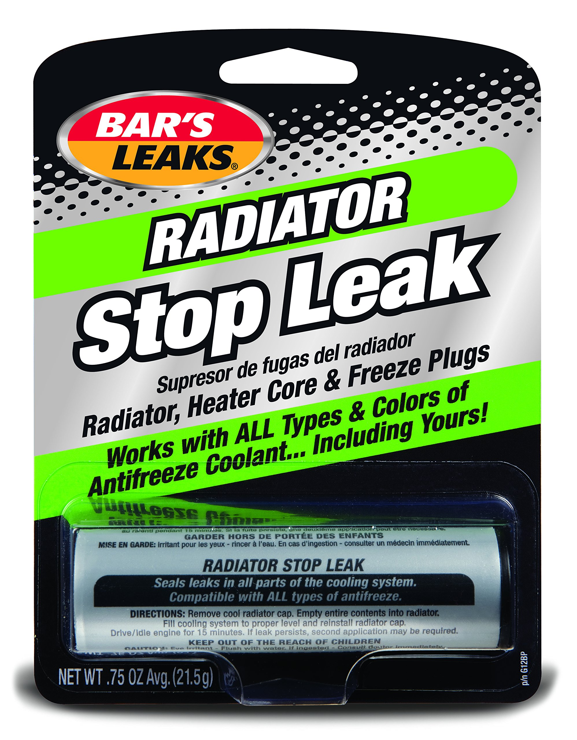 Bar's Leaks G12BP-7PK Radiator Stop Leak Powder - 0.75 oz., (Pack of 7) by Bar's Products