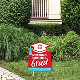 product image for Big Dot of Happiness Nurse Graduation - Outdoor Lawn Sign - Medical Nursing Graduation Party Yard Sign - 1 Piece
